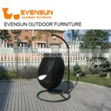 China EVENSUN manufacturer Outdoor furniture Egg shape durable outdoor glider rocking chair