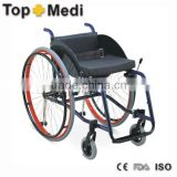 Topmedi Aluminum manual folded lightweight leisure basketball sport wheelchair like motorcycles
