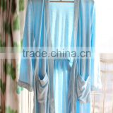 100% bamboo fiber women's bathrobe, terry cloth bathrobe,nightwear gown