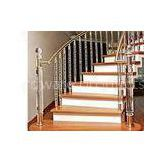 Outdoor Acrylic Spindles For Stairs / Column Shape Acrylic Balustrade