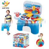 Factory wholesale deft design play house cart baby doll doctor set chair toy