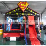 2017 hot sale inflatable adult baby bouncer chair superman bouncer castle with slide cheap jumping castle