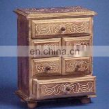 Carved Wood Chest Of Drawers (Cabinet)