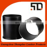 Top Supplier Open Top Design Leather Cover Innovative Waste Bin