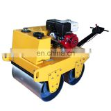 Gasoline engine walking behind manual vibrating road roller/1 ton compactor vibratory roller