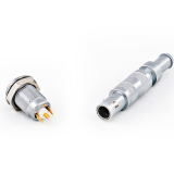 Push pull FFA.00.250.CTAC29Z_ERN.00.250.CTL metal coaxial connectors with earthing tag
