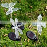 Solar Powered Hummingbird, Butterfly & Dragonfly Garden Stake Light with Color Changing LEDs