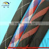 With ISO 9001:2008 Standard High Temperature Resistant Flexible Flame Retardant Braided Polyester Mesh Tube For Wire Harness
