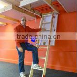 "Grand Wooden Loft Ladder - Frame 1280mm x 700mm (4'2"" x 2'3?"") Floor to ceiling heights up to 2.8m (9'2"")"