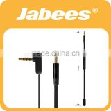Wholesale flat wired AUX jack 3.5mm audio cable with volume control and mic                                                                         Quality Choice