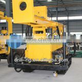 HF200Y multifunctional water well drilling rig with air compressor, caterpillar band water well drilling rig