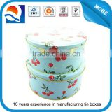 Factory directly round cake tin box set cookie tin box set manufacture