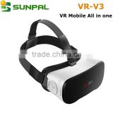 2016 new coming CX-VR VR Mobile All in One android 4.4 OS Allwinner H8 Octa-Core A7 CPU 2GB+16GB 9-axis System VR 3D Glasses                                                                         Quality Choice