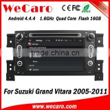 Wecaro WC-SV7056 Android 4.4.4 car stereo 1024 * 600 navigation sd card for suzuki grand vitara WIFI 3G 16GB Flash 2005 - 2011