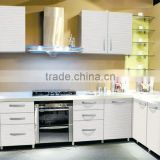 Modern high gloss white lacquer kitchen cabinet for sale,kitchen cabinet door plastic panels(KC-020)