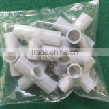 All Kinds Plastic White PVC Pipe Fitting, customized processing of plastic parts