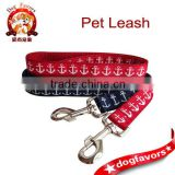 "Nautical Anchor Dog Leash. Large. 1"" wide. America. Red, White and Blue. Navy Blue. Sailor. Sailing. Ship.."