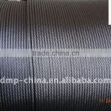 6x19+FC 6x19+IWS/7x19 --1/8`` hot dip galvanized steel wire rope manufacturer from China