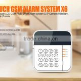 Wireless Intruder Security GSM Home Alarm System with APP control and alarm relay switch for house