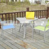 Bistro Table Set, Garden Table Set,Patio Table Set,One Pc Alu. Frame Triangle Table&Three Pcs Alu.Chairs