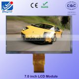 7 inch tft lcd module landscape type WVGA 800*480 tft lcd monitor with RTP touch screen for industry products