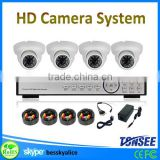 cheap hd home security camera systems,720/960/1080AHD dome camera h.264 dvr cctv camera kit
