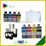 vivid color sublimation inkjet ink for epson for Cotton Fabric/Mug/Leather/PVC/pottery and porcelain printing