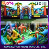 inflatable kids jumping funland amusement park,kids outdoor playground inflatable, inflatable children games funcity