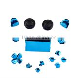 Button & Battery Cover Mod Kit for PS4 for Dualshock 4 Controller Blue Chrome