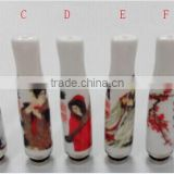 China painted Ceramic Drip Tip Acrylic Calabash drip 510 drip tips Wholesale with factory price