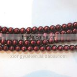 wholesale siam color loose round glass baroque pearls