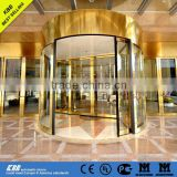 KBB HOTEL entrance 2 wing revolving door, safety glass, aluminium frame, stainless steel surface, CE UL certificate