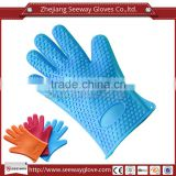 Seeway Kitchen Heat Resistant Silicone Gloves Oven Pot Holder Baking Barbeque Cooking Waterproof Five-fingered Mitts