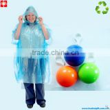 2014 100%ECO AS Poncho Ball with keychain Clear Disposable LDPE Raincoat                                                                         Quality Choice