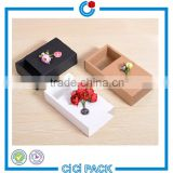 Wholesale gift box CMYK printing handling kraft paper custom black drawer box for tea                                                                                                         Supplier's Choice