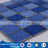Price for roman types premium iridescent blue colored mosaic tile