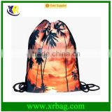 Women Mochila Man Gym bags Travel Backpack Sunset Printing Drawstring Laundry Bag