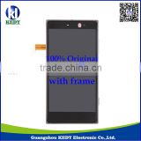 Original LCD Display LCD with Touch Screen Digitizer with Frame for Nokia Lumia 830 100% Spotless