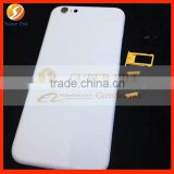 white back cover for iphone 6 4.7'' rear cover housing with gold logo perfect testing