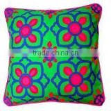 Hand Block Print Embroidery Work Cushion Covers Soma Design,Custom Design In Jaipur