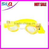 Customized color best waterproof glasses anti-fog UV protective durable silicone swimming goggles