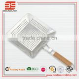 China Manufacturer Wholesale Handle BBQ Pizza Grill Pan