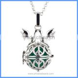 Wholesale Dove Peace Symbol Metal Cage Chime Box Musical Sound Ball Pendant Pregnancy Necklaces For Women BAC-M050