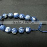 Best quality new products gemstone beads leather bracelet
