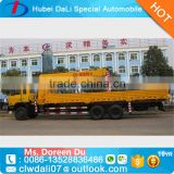 truck with crane of 10 ton capacity hydraulic truck crane with four selection straight boom for sale