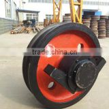 Hot Forged bridge crane rail wheels gantry crane wheels for wheel mounted crane