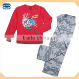 ( BT90025 ) 4-13y nova kids wholesale new style Batman fashion nightwear boy 3 pcs cartoon pyjama set