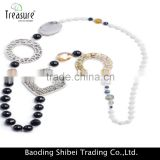Fashion jewelry wholesale long beaded necklace acrylic necklace jewelry for girl 2016 new arrival