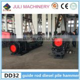 Manufacturer sell DD32 guide rod type diesel pile drive hammer for precast pile in South-east Asia countries