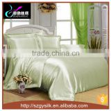 whole sale luxury silk satin pure dyed bedding set duvet cover